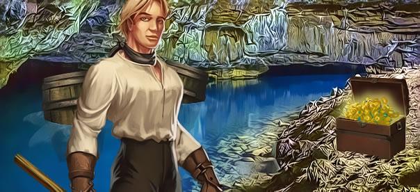 blond-mineur-grotte-lac-souterrain-tresor-tonneau